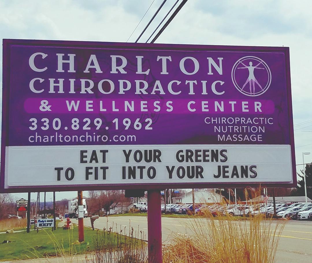 Charlton Chiropractic & Wellness Center sign