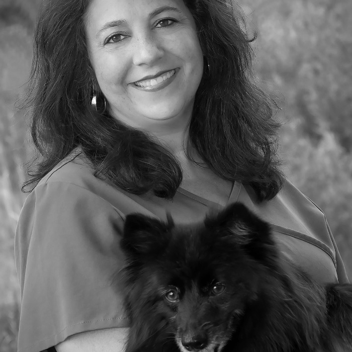Dr. Jodie and her furry love, Jetson