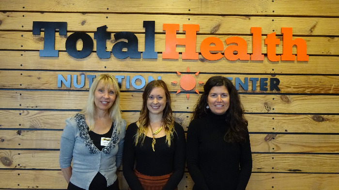 Mona, Paige, and Kristine. Practitioners at Total Health Nutrition Center