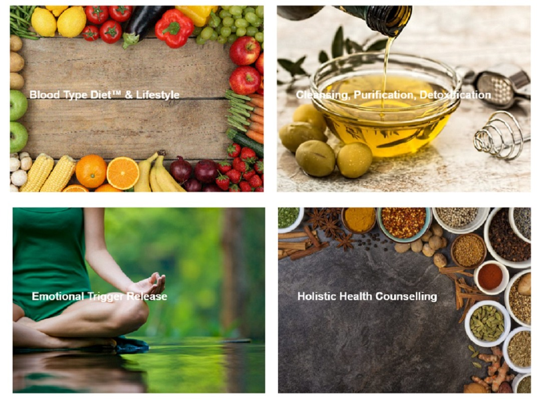 Blood Type Diet & Lifestyle, Cleansing, Emotional Trigger Release, Holistic Health Counseling